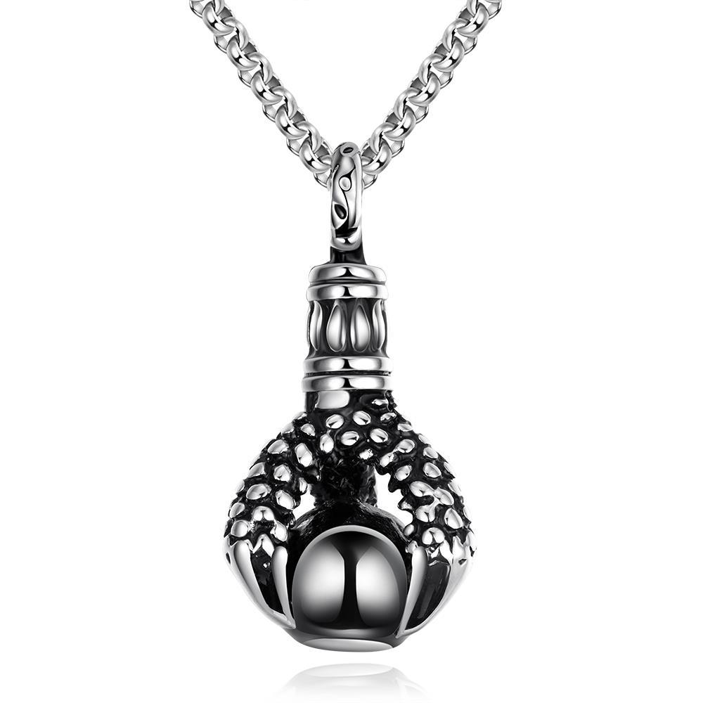 Vienna Jewelry Thick Emblem Stainless Steel Necklace