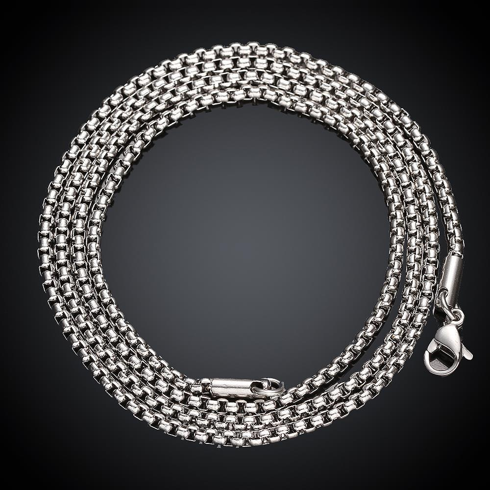 Vienna Jewelry Thick Stainless Steel Cut Chain 18 inches