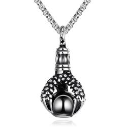 Vienna Jewelry Thick Emblem Stainless Steel Necklace - Thumbnail 0