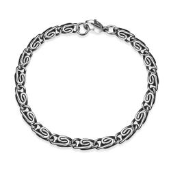 Vienna Jewelry Roman Inspired Ingrained Bracelet - Thumbnail 0