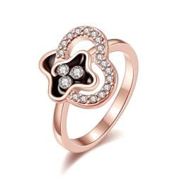 Vienna Jewelry Rose Gold Plated Swirl Design Jewels Covering Ring Size 8 - Thumbnail 0