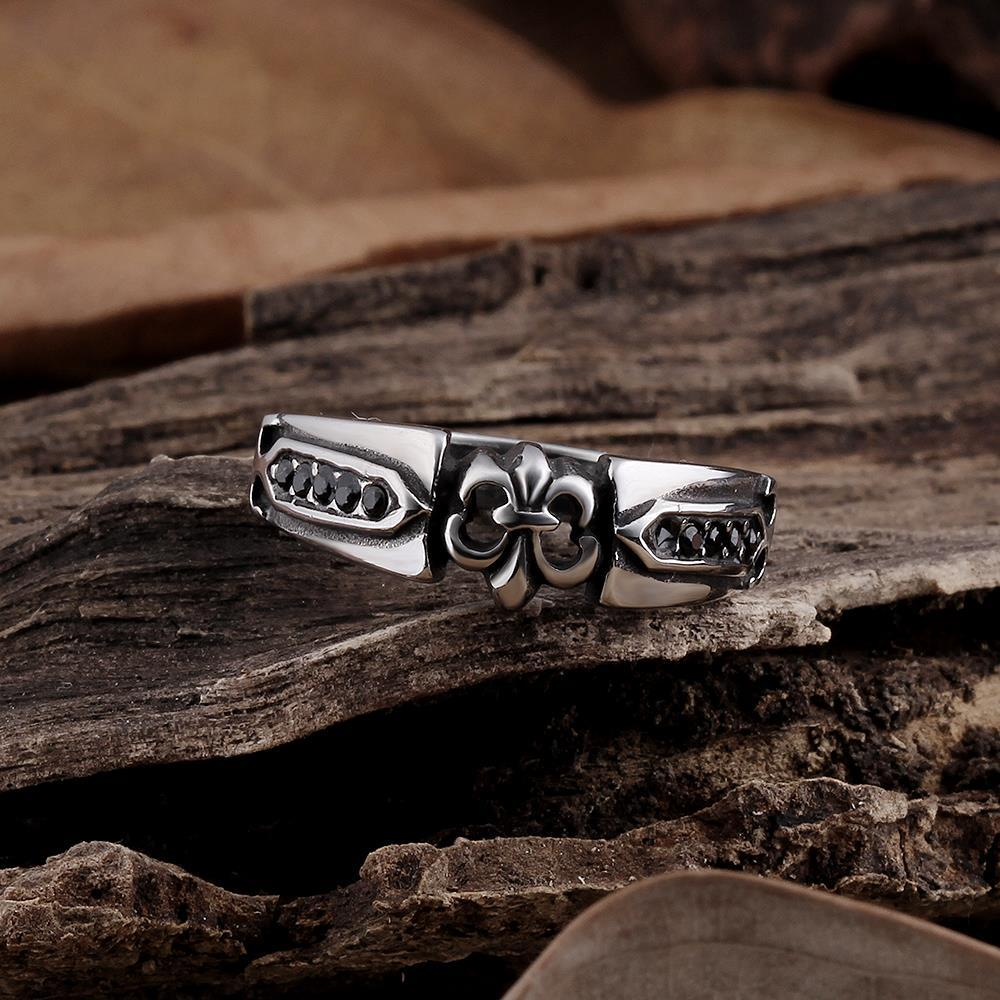 Vienna Jewelry Stainless Steel Rose Petals Ring
