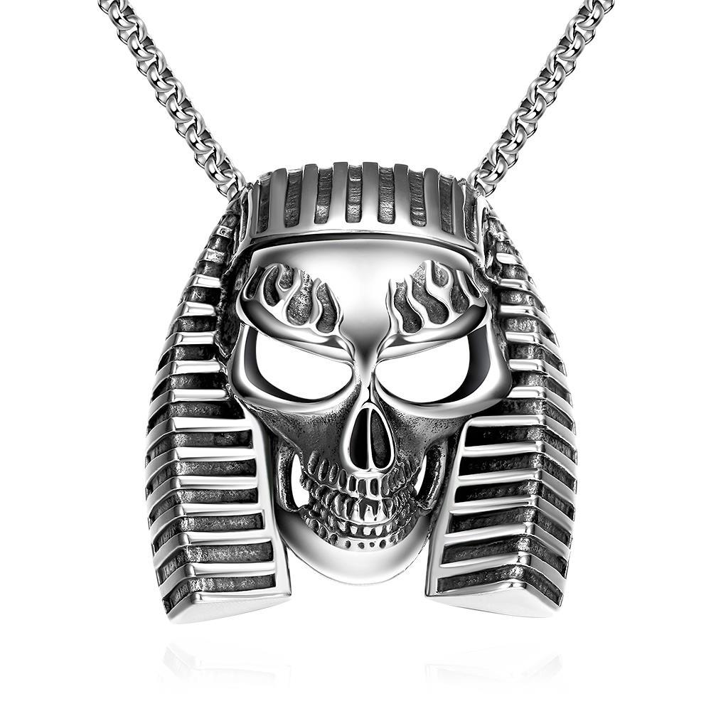Vienna Jewelry Pharaoh's Emblem Stainless Steel Necklace