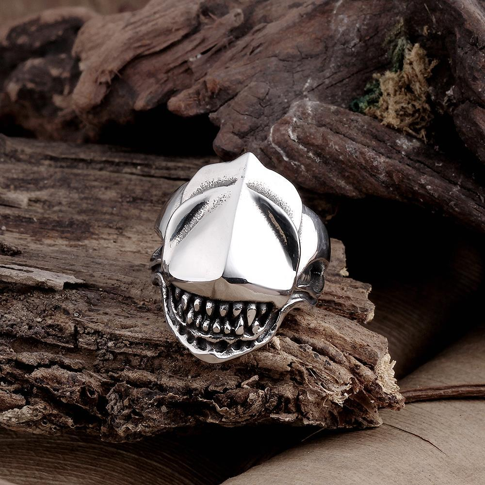 Vienna Jewelry Stainless Steel Shark's Jaws Ring