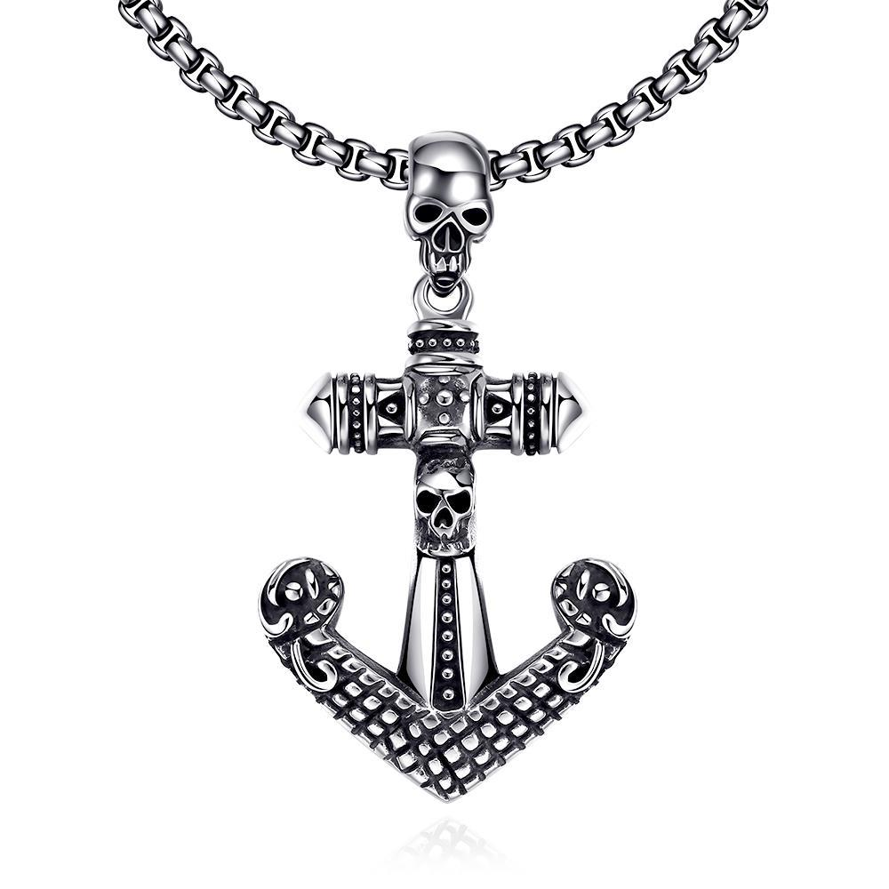 Vienna Jewelry Anchor Stainless Steel Necklace