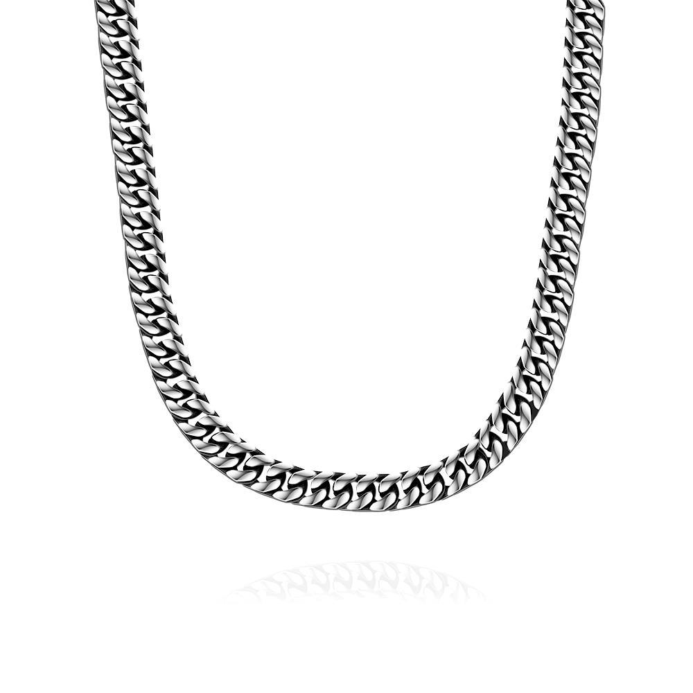 Vienna Jewelry New York Classic Stainless Steel Chain Necklace