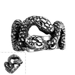 Vienna Jewelry Python's Stainless Steel Ring - Thumbnail 0