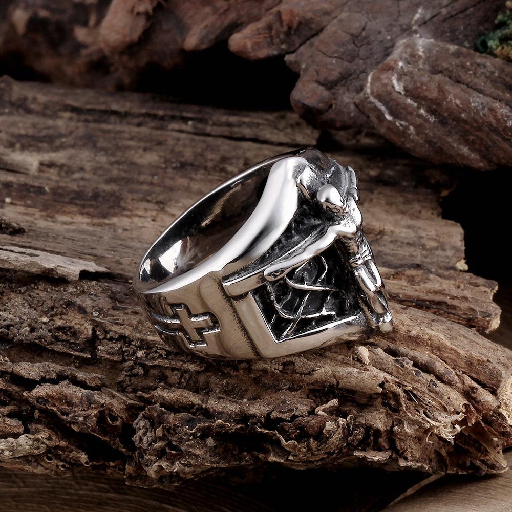 Vienna Jewelry Mini Skeleton Stainless Steel Ring