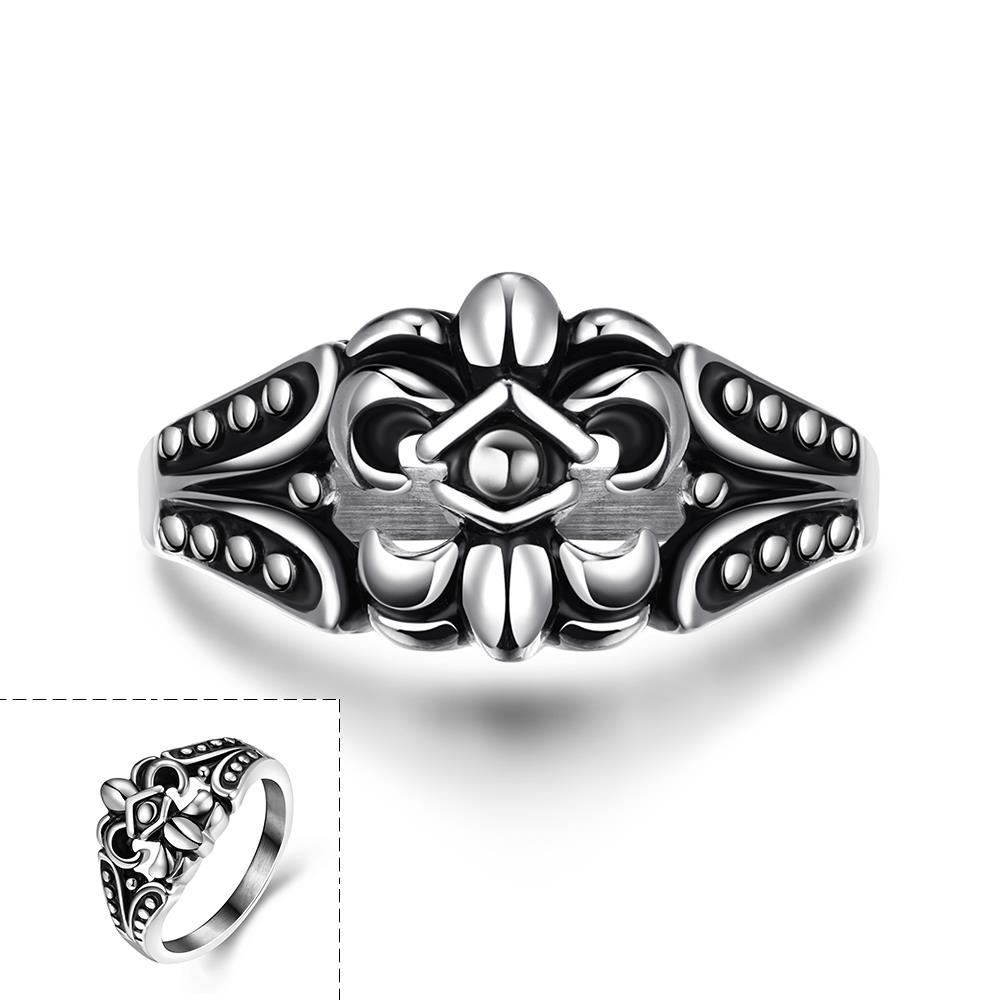 Vienna Jewelry Spartan Shield Stainless Steel Ring