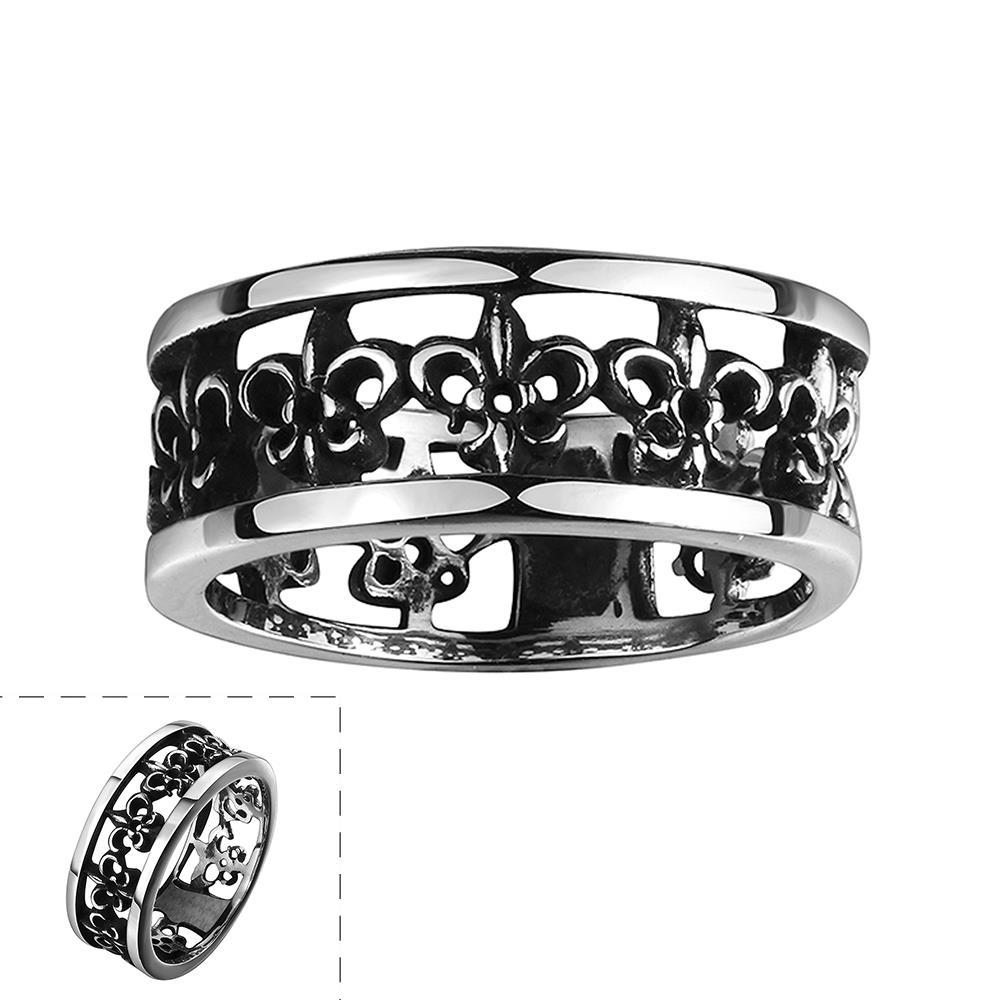 Vienna Jewelry Greek Inspired Ingrained Stainless Steel Ring - Thumbnail 0