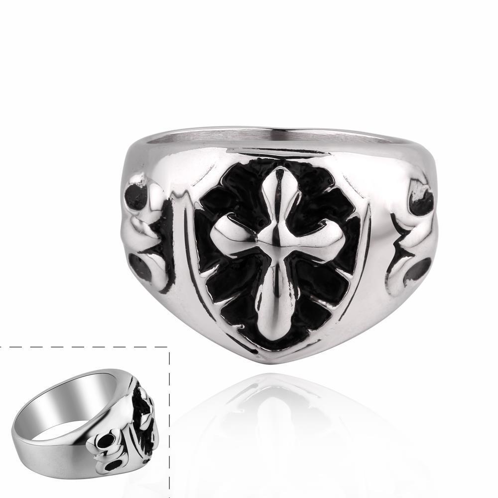 Vienna Jewelry Mini Cross Stainless Steel Ring