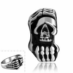 Vienna Jewelry Stainless Steel Claw Embelm Ring - Thumbnail 0