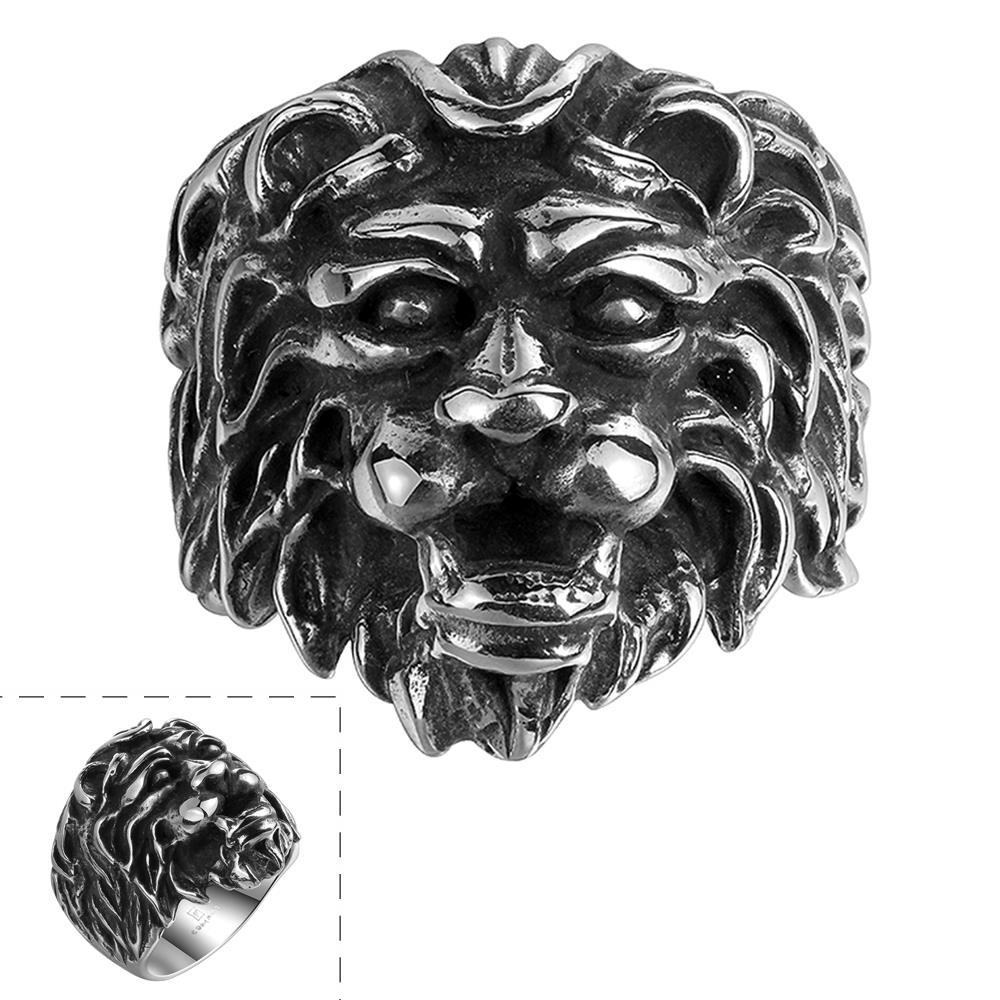 Vienna Jewelry Lion King Stainless Steel Ring
