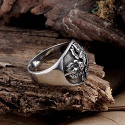 Vienna Jewelry Spider's Web Stainless Steel Ring - Thumbnail 0