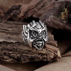 Vienna Jewelry Stainless Steel Abstract Creature Ring - Thumbnail 0