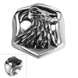 Vienna Jewelry The American Eagle Stainless Steel Ring - Thumbnail 0