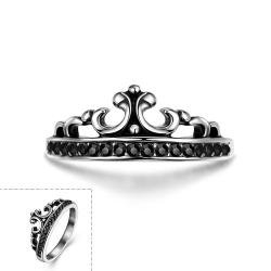 Vienna Jewelry The Prince's Crown Stainless Steel Ring - Thumbnail 0