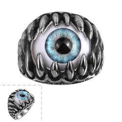Vienna Jewelry Singular Eyeball Stainless Steel Ring - Thumbnail 0