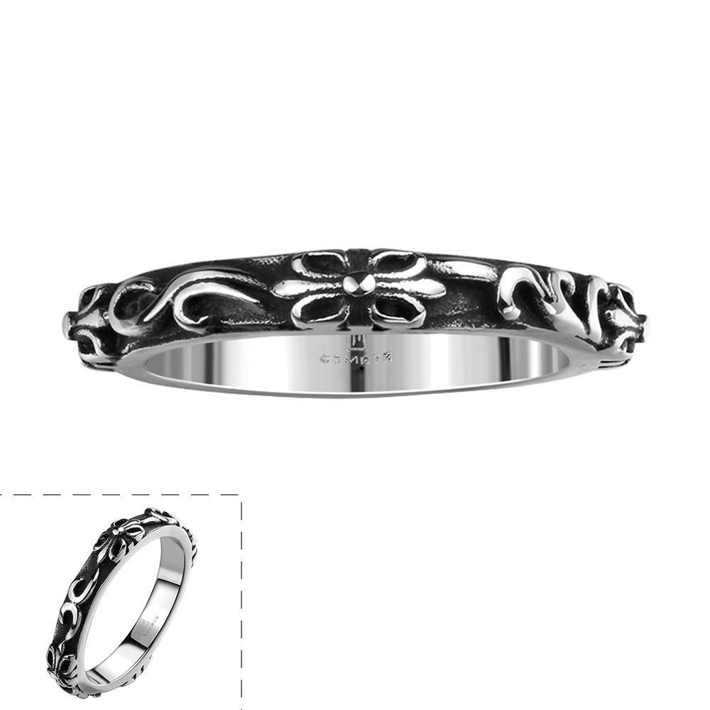Vienna Jewelry Simple Clean Cut Stainless Steel Ring
