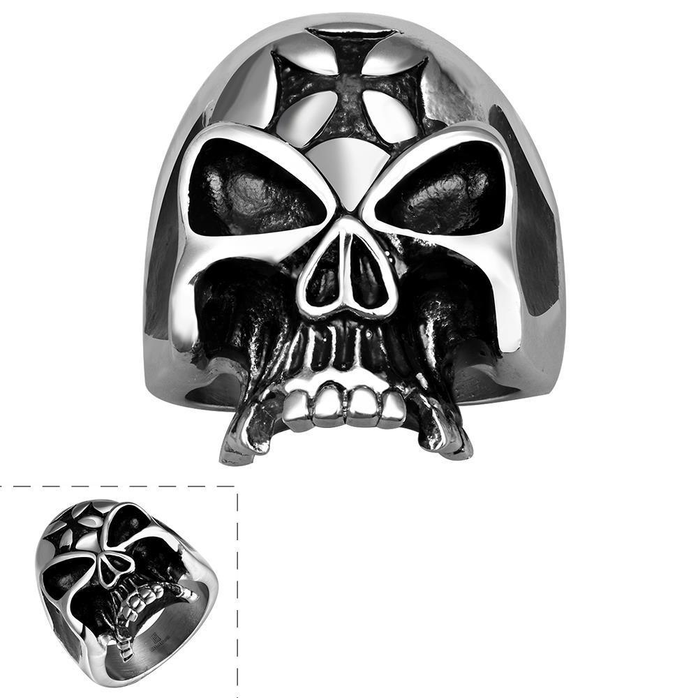 Vienna Jewelry Alien Skull Stainless Steel Ring