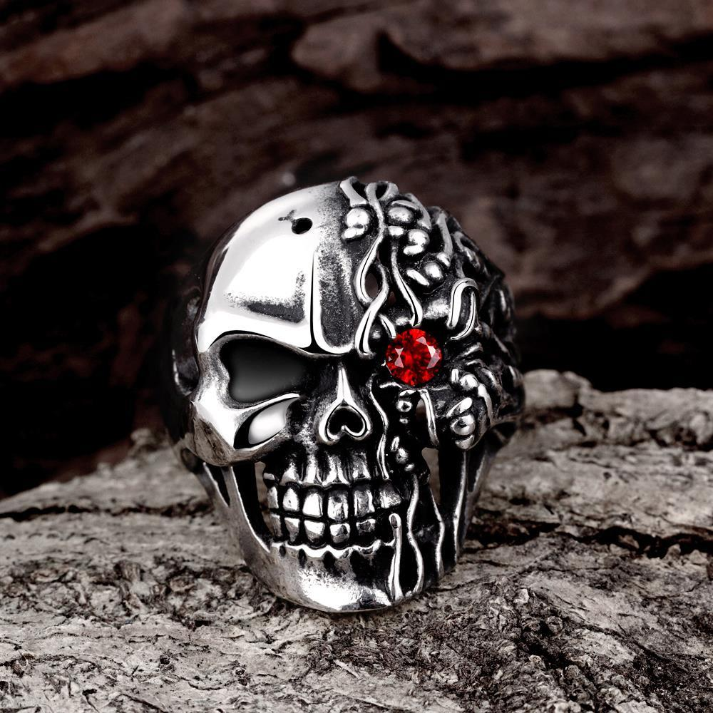 Vienna Jewelry The Terminator's Skull Stainless Steel Ring - Thumbnail 0