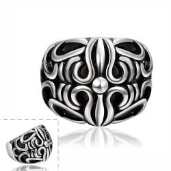 Vienna Jewelry Roman Inspired Stainless Steel Ring - Thumbnail 0