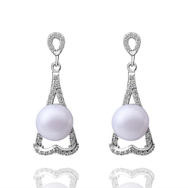 Vienna Jewelry Cultured Pearl Triangular Shaped Drop Earrings