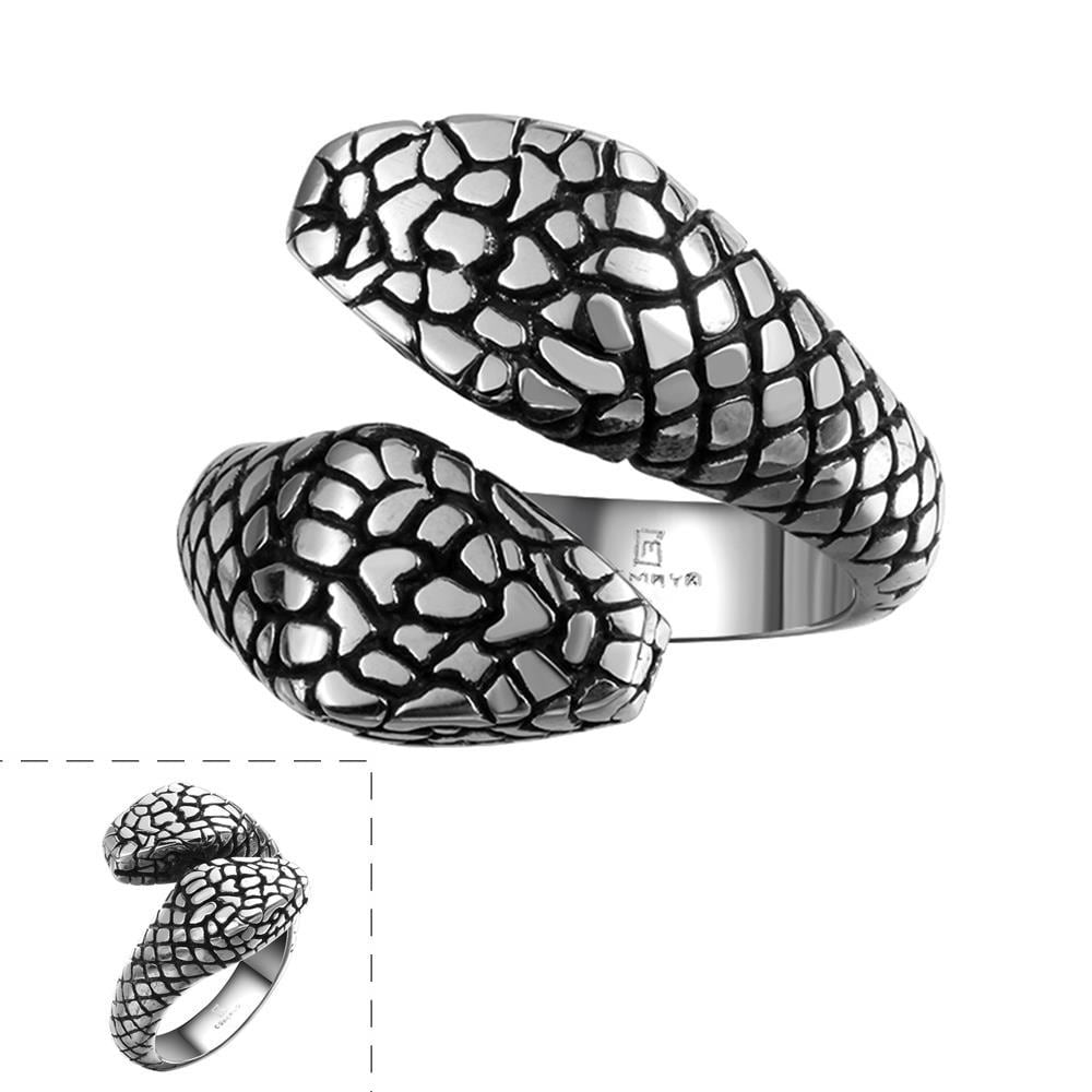 Vienna Jewelry Cobra's Stainless Steel Ring - Thumbnail 0