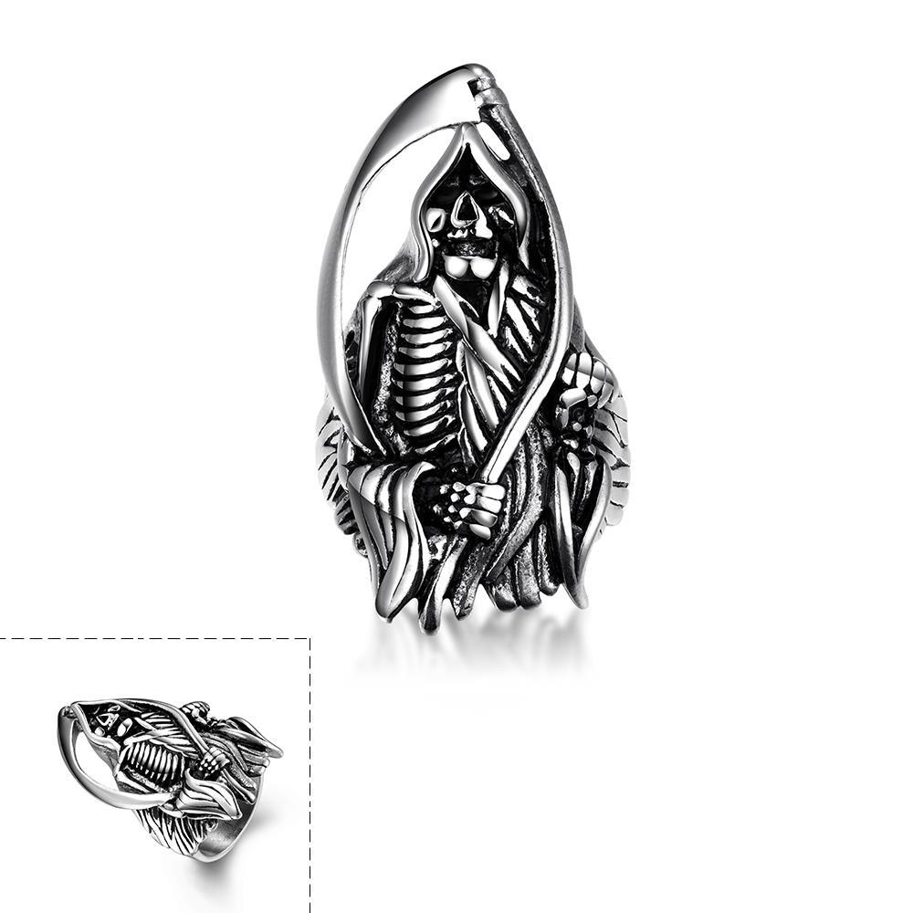 Vienna Jewelry The Grand Reaper Stainless Steel Ring
