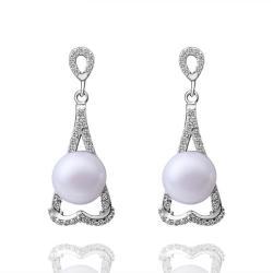 Vienna Jewelry Cultured Pearl Triangular Shaped Drop Earrings - Thumbnail 0