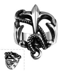Vienna Jewelry Stainless Steel Anchor Ring - Thumbnail 0