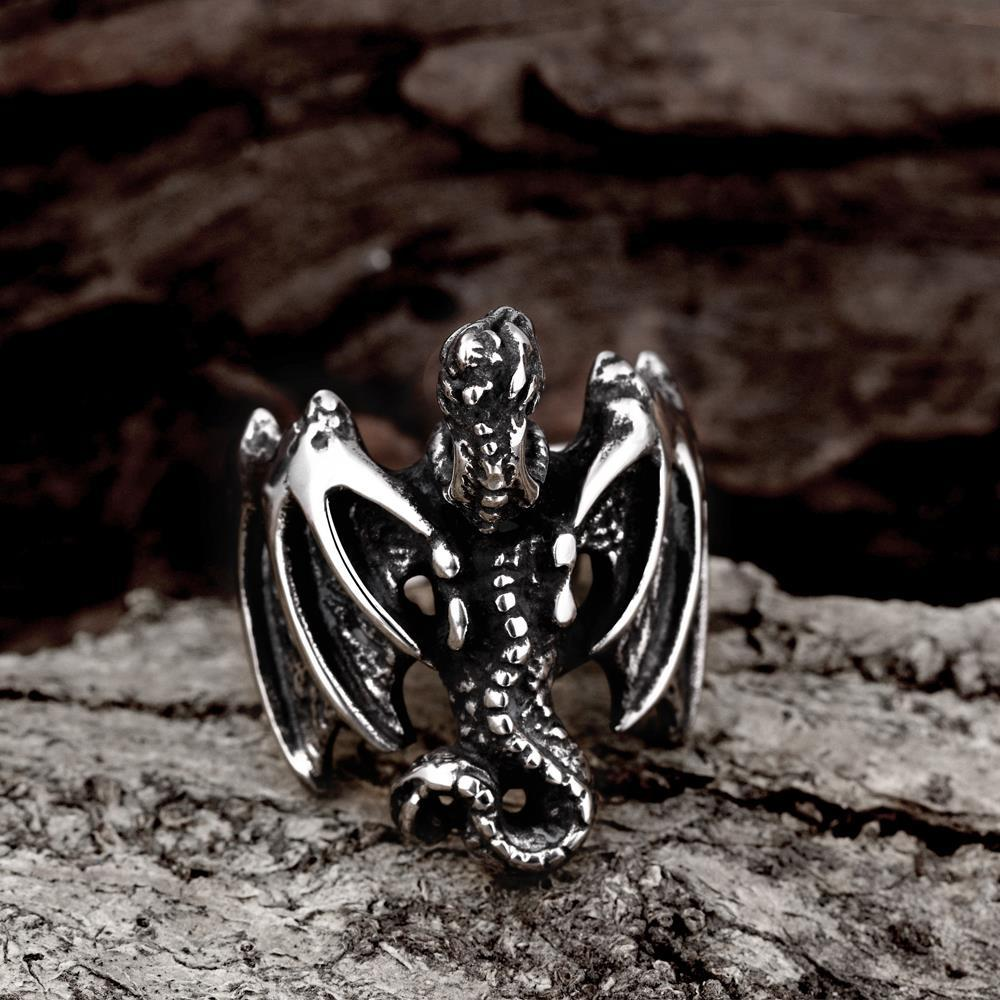 Vienna Jewelry The Flying Dragon Stainless Steel Ring