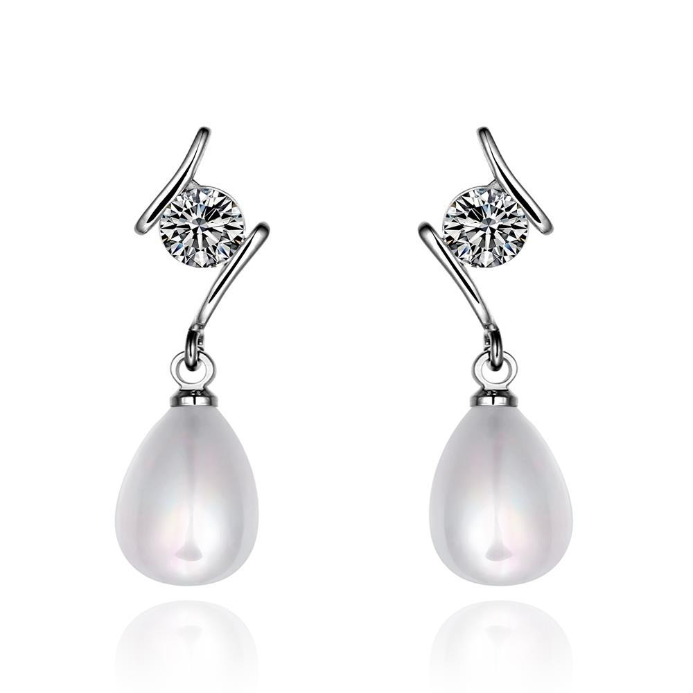 Vienna Jewelry Cultured Pearl Crystal Jewel Drop Earrings