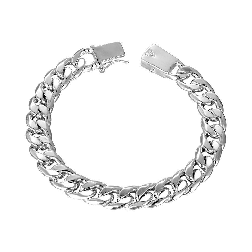 Vienna Jewelry Sterling Silver New York Inspired Sleek Bracelet