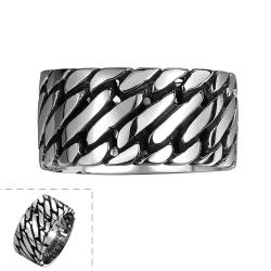 Vienna Jewelry Classic Clean Cut Stainless Steel Ring - Thumbnail 0