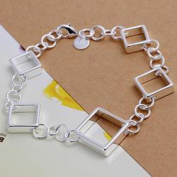 Vienna Jewelry Sterling Silver Multi-Heart Shaped Bracelet - Thumbnail 0