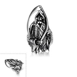 Vienna Jewelry The Grand Reaper Stainless Steel Ring - Thumbnail 0