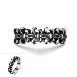 Vienna Jewelry Classic Medieval Stainless Steel Ring - Thumbnail 0