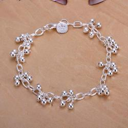 Vienna Jewelry Sterling Silver Multi Orchid Bracelet - Thumbnail 0