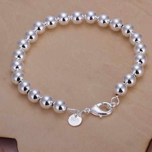 Vienna Jewelry Sterling Silver Petite Bead Bracelet