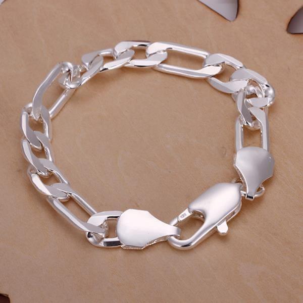 Vienna Jewelry Sterling Silver Sleek Paris Inspired Bracelet