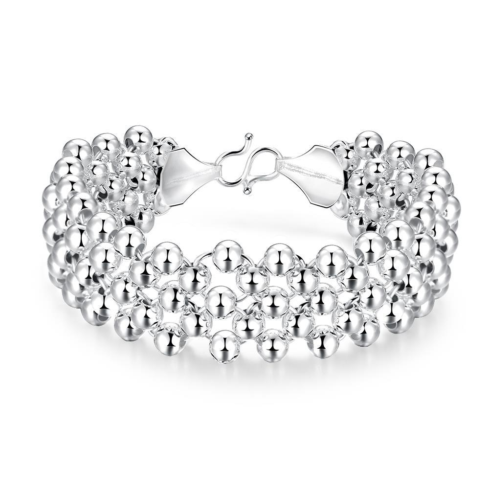 Vienna Jewelry Sterling Silver Thick Pearl Bracelet