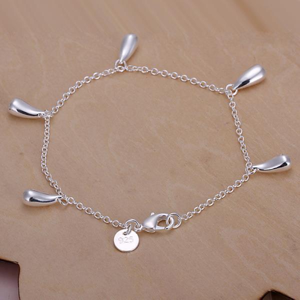 Vienna Jewelry Sterling Silver Dangling Tear Drop Bracelet