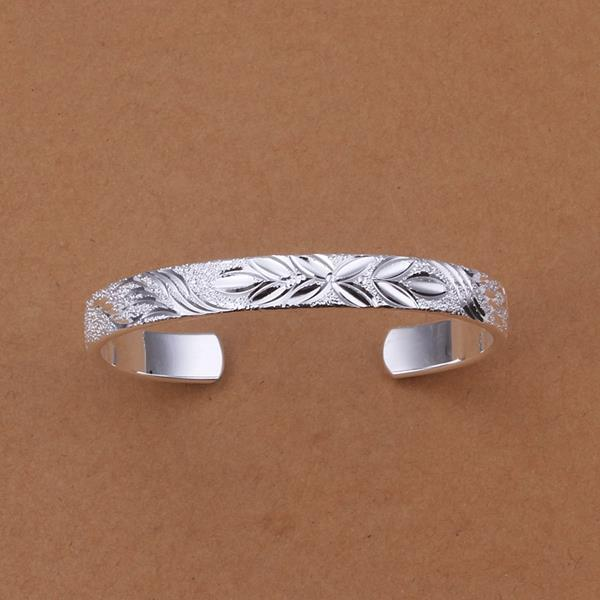 Sterling Silver Classical Ingrain Open Bangle