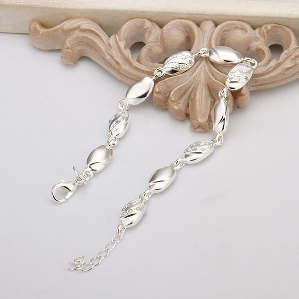 Vienna Jewelry Sterling Silver Petite Sea Shell Connected Bracelet