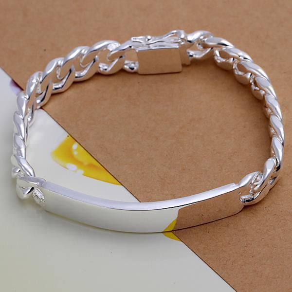 Vienna Jewelry Sterling Silver Plated Emblem Bracelet