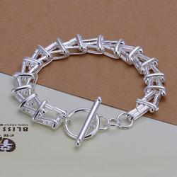 Vienna Jewelry Sterling Silver Multi Layered Connected Bracelet - Thumbnail 0