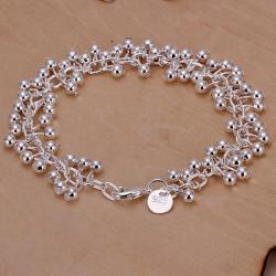 Vienna Jewelry Sterling Silver Multi Floral Petal Bracelet - Thumbnail 0