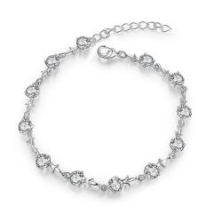Vienna Jewelry Sterling Silver Petite Emblem Bracelet - Thumbnail 0