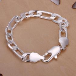 Vienna Jewelry Sterling Silver Sleek Paris Inspired Bracelet - Thumbnail 0